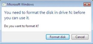 One of the more common hard drive failure messages